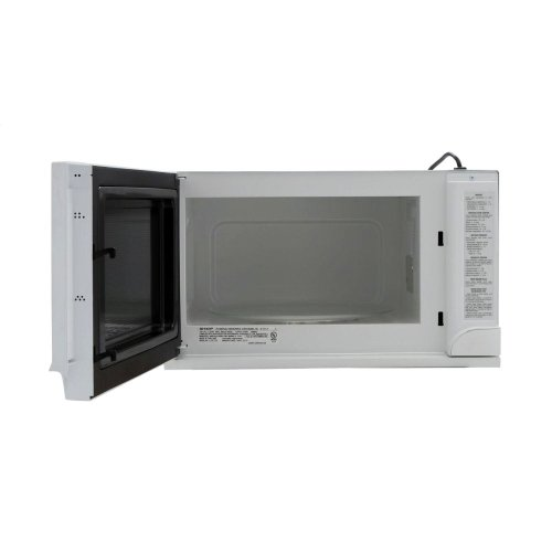 1100w Sharp White Over The Counter Carousel Microwave Oven