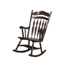Traditional Medium Brown Rocking Chair
