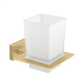 Frosted Glass Tumbler Set, 55D Series - Brushed Brass