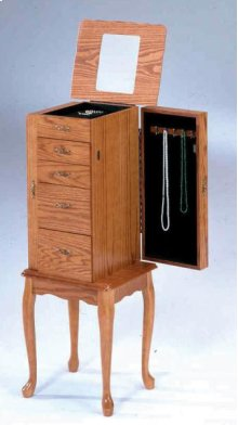 7201  Oak Jewelry Armoire (Small)