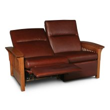 Grand Rapids Loveseat Recliner, Fabric Cushion Seat