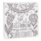 """In the Garden My Soul is Sunshine"" Wall Block. Product Image"