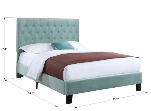 Emerald Home Amelia Upholstered Bed Kit Cal King Navy B128-13hbfbr-14 (copy)