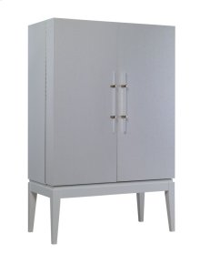 Socialite High Bar Cabinet with Grass Cloth