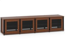 Synergy Solution 247, Quad-Width AV Cabinet, Cherry with Black Posts