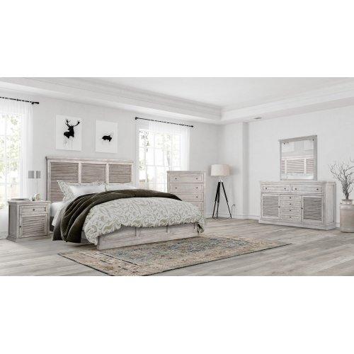 Emerald Home B506-12-k Havenwood King Bed, Gray