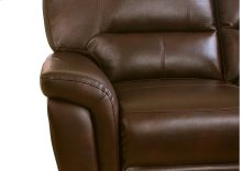 Galaxy Brown Leather Recliner Chair