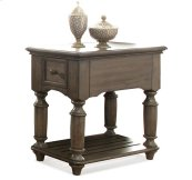Belmeade Chairside Table Old World Oak finish