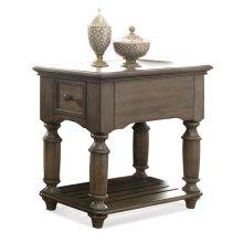 Belmeade Chairside Table Old World Oak finish