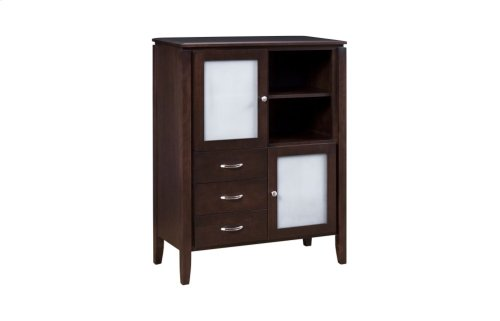 2 Door Great Room Cabinet with Frosted Glass