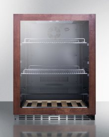 Built-in Undercounter Craft Beer Pub Cellar With Glass Door With Panel-ready Frame, Digital Controls, and Black Cabinet