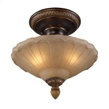 Restoration 3-Lt Semi-Flush in Ant Golden Bronze