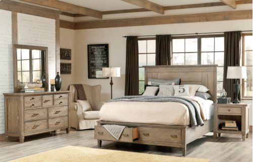 Brownstone Village Storage Panel Bed Cal King