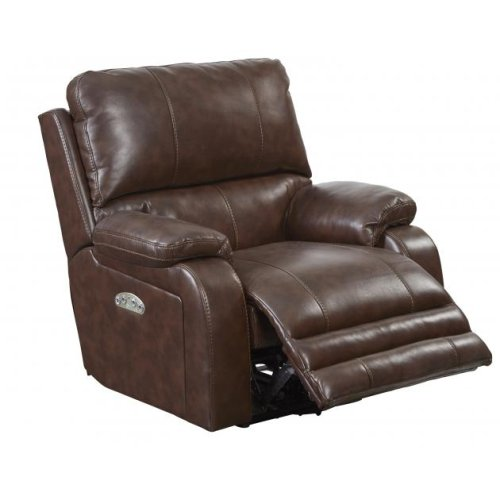 Power Headrest w/Lumbar Power Lay Flat Recliner