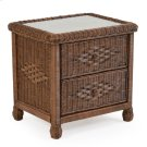 Wicker 2 Drawer Nightstand Coffee Bean 3702 Product Image
