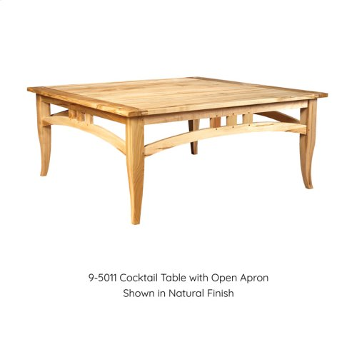 Cocktail Table with Open Apron