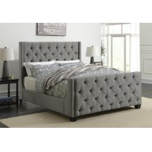 Palma Light Grey Upholstered Full Bed