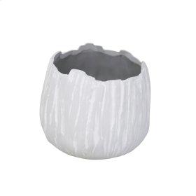 "Ceramic 7"" Organic Planter, Gray"