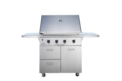 "Heritage 36"" Outdoor Grill with Infrared Sear Burner, Stainless Steel, Liquid Propane"