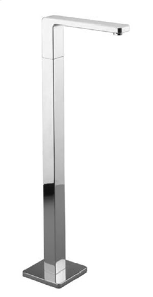 Tub spout without diverter for freestanding installation - chrome