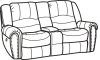 Downtown Fabric Power Reclining Loveseat with Console