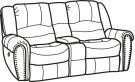 Downtown Fabric Power Reclining Loveseat with Console Product Image