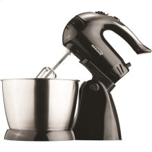 5-Speed + Turbo Electric Stand Mixer with Bowl (Black)
