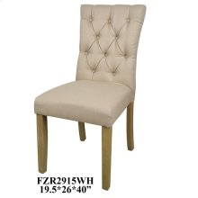 "19.5X24X39"" DINING CHAIR BEIGE, 2 PCS KD PK/ 5.94'"