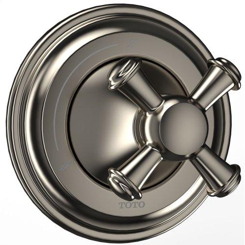 Vivian™ Two-Way Diverter Trim - Cross Handle - Brushed Nickel