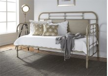 Twin Metal Day Bed - Vintage White