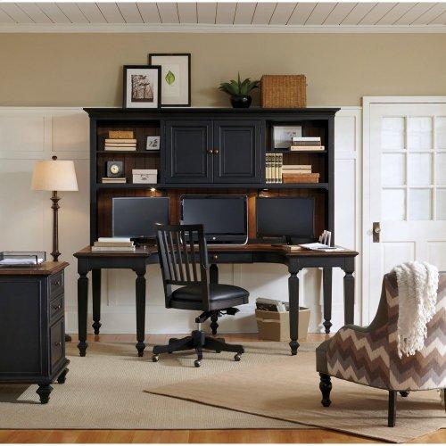 Dual T Desk Hutch