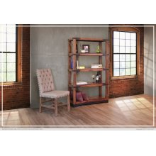 "70"" Bookcase w/4 Wooden Shelves"