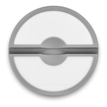 """6.5"""" Round Electronic Device Holder and Cutting Board - Matte Gray"""