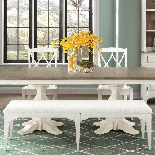 Myra - Upholstered Dining Bench - Paperwhite Finish