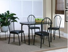 Ebony 30x48 Table 5 PC Set