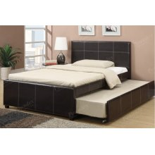 Espresso Full Size Bed with Trundle