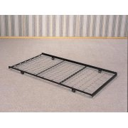 Traditional Black Trundle Bed Frame Product Image