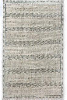 9'x12' Size Flatweave Faded Block Print Rug