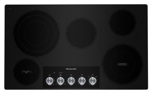 "36"" Electric Cooktop with 5 Elements and Knob Controls - Black Product Image"