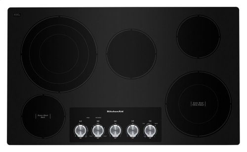 """36"""" Electric Cooktop with 5 Elements and Knob Controls - Black"""