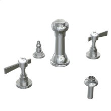 Savina 3-Hole Bidet Faucet Lever Handles - Polished Chrome