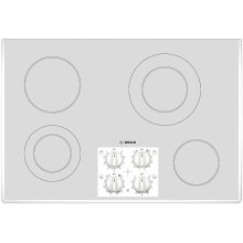 """400 Series 30"""" White Electric Cooktop"""