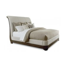 St. Germain Queen Upholstery Platform Sleigh Bed