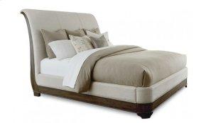 St. Germain King Upholstery Platform Sleigh Bed