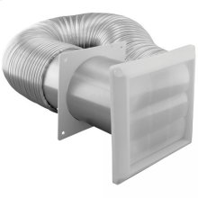"4"" x 8' Flex Aluminum Duct with Louvered Hood and 2 Metal Clamps"