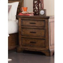 Elk Grove Rustic Three-drawer Nightstand