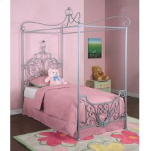 """Princess Rebecca """"Sparkle Silver"""" Canopy Twin Size Bed (P01 frame sold separately)"""