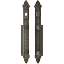 "Briggs Entry Sliding Door Set - 2"" x 15"" Silicon Bronze Brushed"
