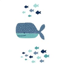 Little Whale Wall Decals - Blue