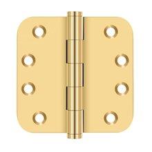 "4""x 4""x 5/8"" Radius Hinges - PVD Polished Brass"